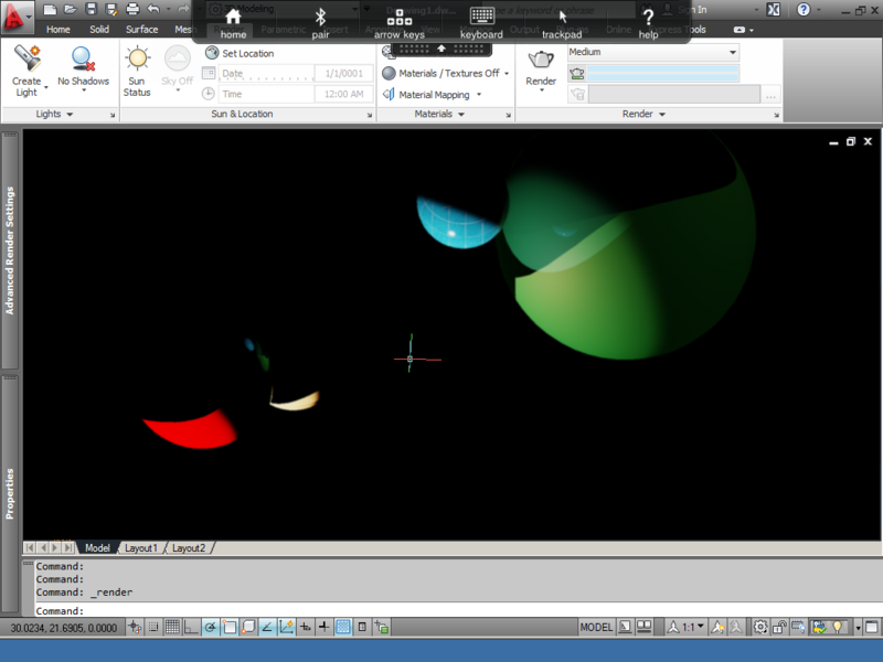4.iPad, Citrix, AutoCAD 2012, Render