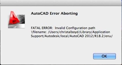 AutoCAD-2012-error