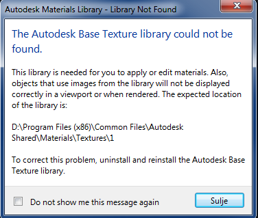Installation: AutoCAD Civil 3D 2012 Material Library Error