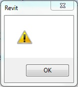 Revit 2013: The yellow triangle in an exclamation mark error