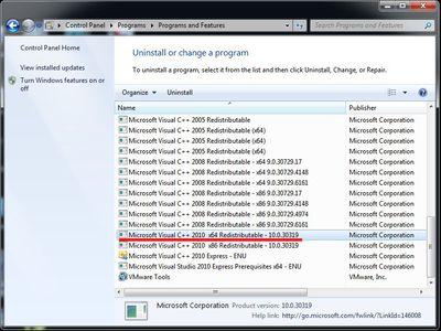 Microsoft C++ default