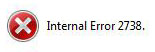 Inernal Error 2738