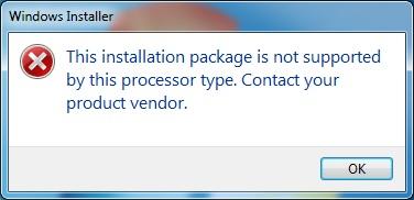 windows installer processor