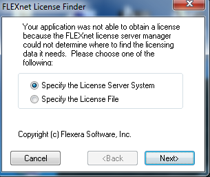 Flexnet License Finder_window