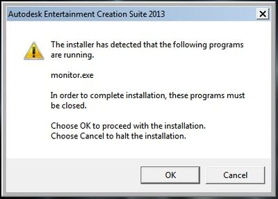 Installer detected monitor exe
