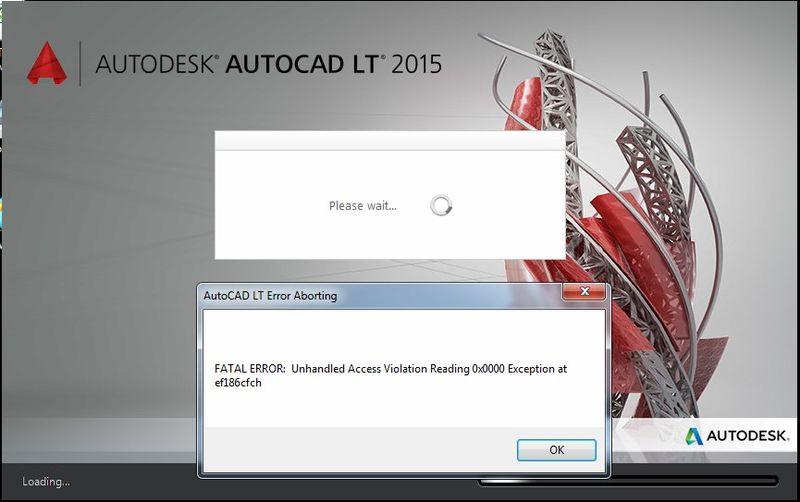 Autocad-lt-2015-fatal-error